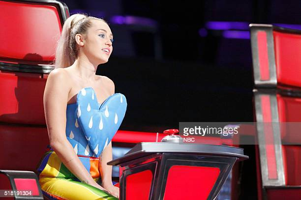 THE VOICE Knockout Reality Pictured Miley Cyrus