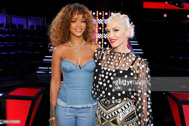 THE VOICE Knockout Reality Pictured Rihanna Gwen Stefani