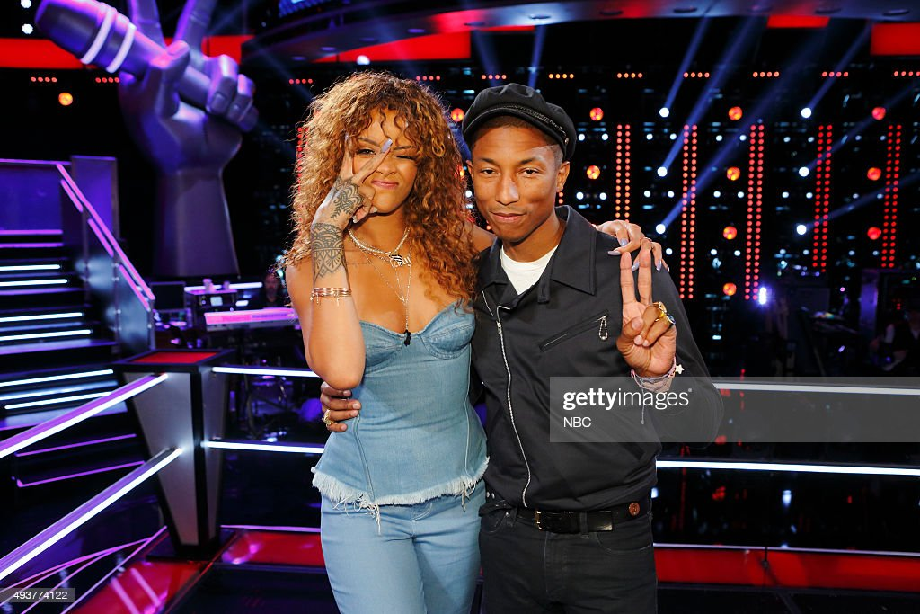 THE VOICE -- 'Knockout Reality' -- Pictured: (l-r) Rihanna, Pharrell Williams --
