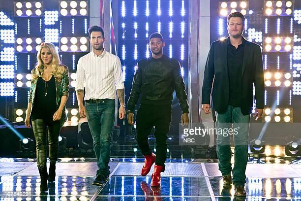 THE VOICE 'Knockout Rounds' Episode 412 Pictured Coaches Shakira Adam Levine Usher Blake Shelton