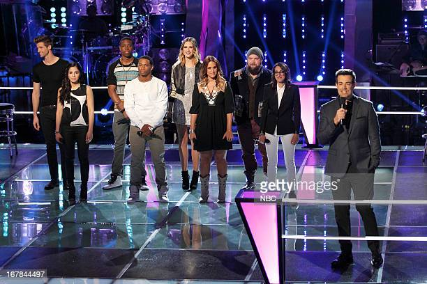 THE VOICE Knockout Rounds Episode 412 Pictured Josiah Hawley Cathia C Perkins Vedo Audrey Karrasch Jess Kellner Ryan Innes Michelle Chamuel Carson...