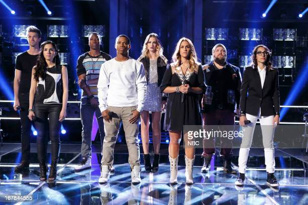 THE VOICE Knockout Rounds Episode 412 Pictured Josiah Hawley Cathia C Perkins Vedo Audrey Karrasch Jess Kellner Ryan Innes Michelle Chamuel