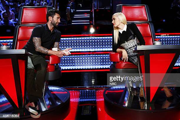 THE VOICE Knockout Rounds Episode 711 Pictured Adam Levine Gwen Stefani
