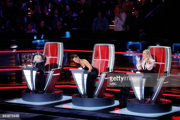THE VOICE Knockout Rounds Pictured Adam Levine Alicia Keys Kelly Clarkson