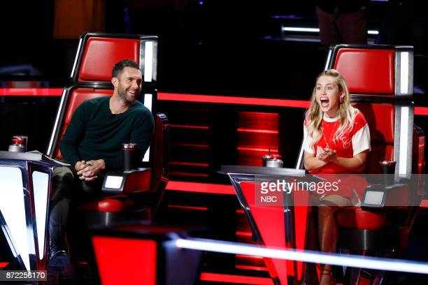 THE VOICE Knockout Rounds Pictured Adam Levine Miley Cyrus