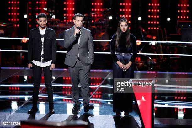 THE VOICE Knockout Rounds Pictured Anthony Alexander Carson Daly Hannah Mrozak