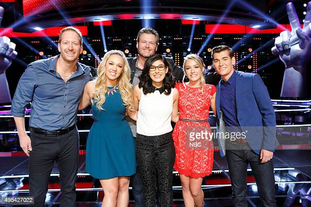 THE VOICE Knockout Rounds Pictured Barrett Baber Morgan Frazier Blake Shelton Ivonne Acero Emily Ann Roberts Zach Seabaugh