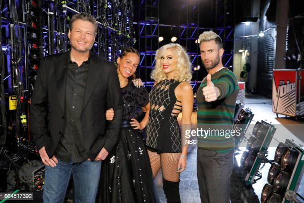 THE VOICE 'Knockout Rounds' Pictured Blake Shelton Alicia Keys Gwen Stefani Adam Levine