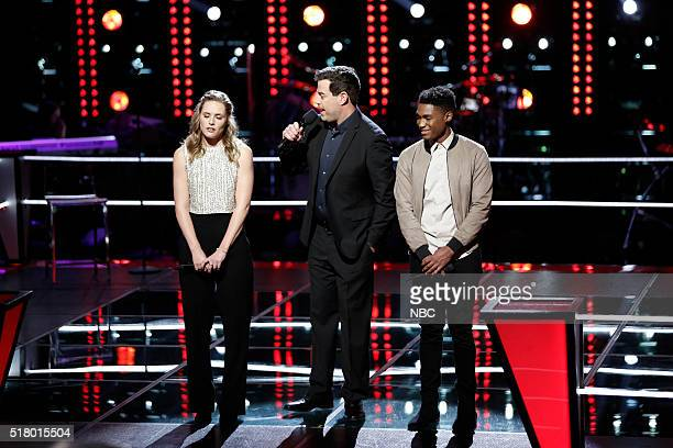 "Knockout Rounds"" -- Pictured: Hannah Huston, Carson Daly, Malik Heard --"