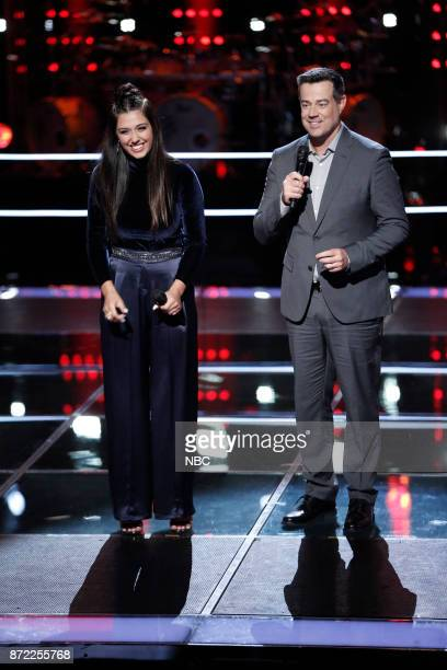 THE VOICE Knockout Rounds Pictured Hannah Mrozak Carson Daly