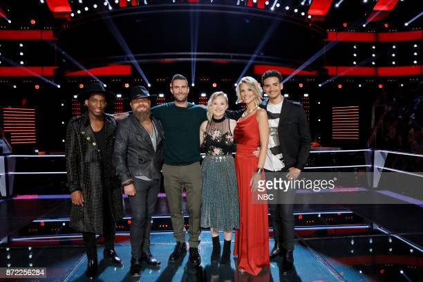 THE VOICE Knockout Rounds Pictured Jon Mero Adam Cunningham Adam Levine Addison Agen Emily Luther Anthony Alexander