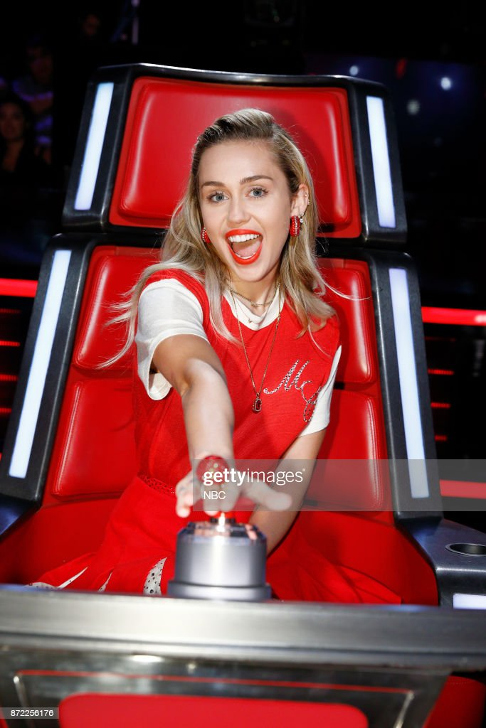 THE VOICE -- 'Knockout Rounds' -- Pictured: Miley Cyrus --