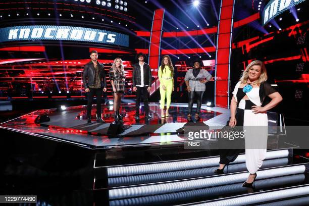 Knockout Rounds -- Pictured: Ryan Gallagher, Cami Clune, Tanner Gomes, Madeline Consoer, Desz, Kelly Clarkson --