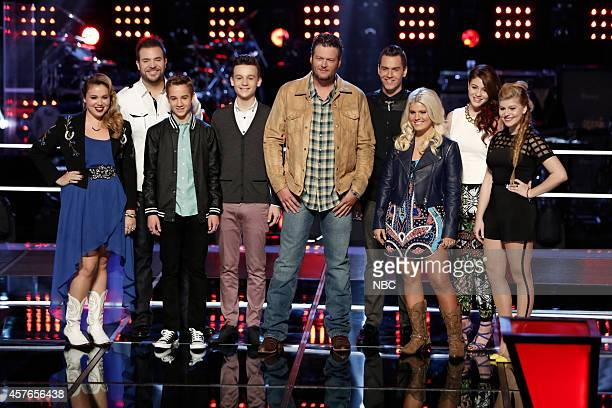THE VOICE 'Knockout Rounds' Pictured Taylor Brashears James David Carter Tanner Linford Grant Ganzer Blake Shelton Daniel Griffin Allison Bray Reagan...