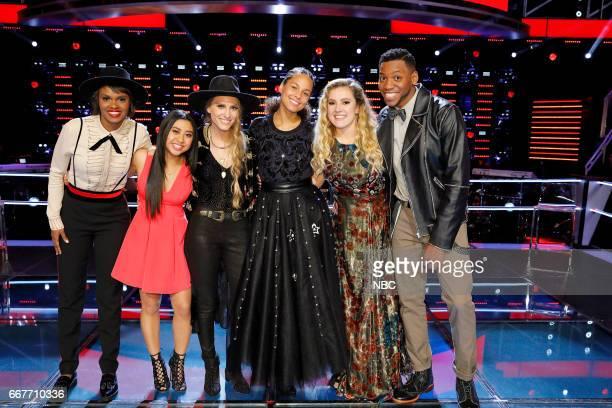 "Knockout Rounds"" -- Pictured: Vanessa Ferguson, Anatalia Villaranda, Stephanie Rice, Alicia Keys, Ashley Levin, Chris Blue --"