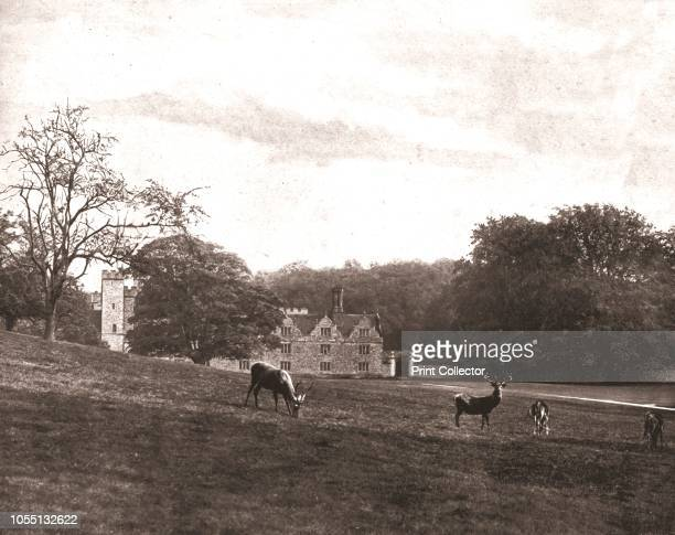 Knole Park Sevenoaks Kent 1894 The deer park at Knole The 16thcentury house was once a bishop's palace a royal house and since 1603 it has been the...