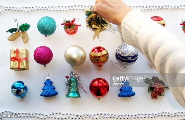 Knolling. Christmas decoration