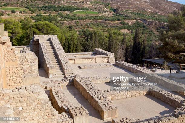 knossos palace, crete - minoan stock photos and pictures
