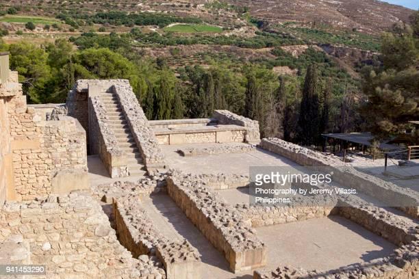 knossos palace, crete - minotauro imagens e fotografias de stock