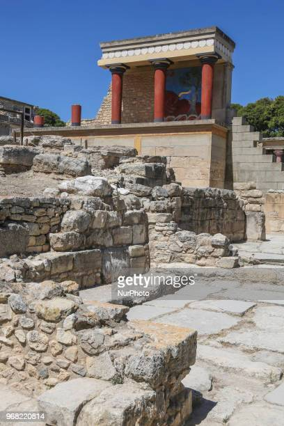 Knossos with the Minoan palace the largest Bronze Age archaeological site on Crete island and Europe's oldest city Knossos was discovered by...