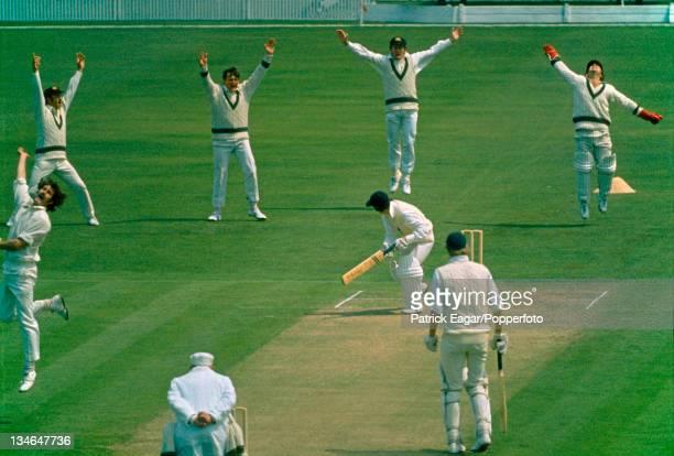 Knott caught Marsh bowled Lillee England v Australia 1st Test Old Trafford June 1972
