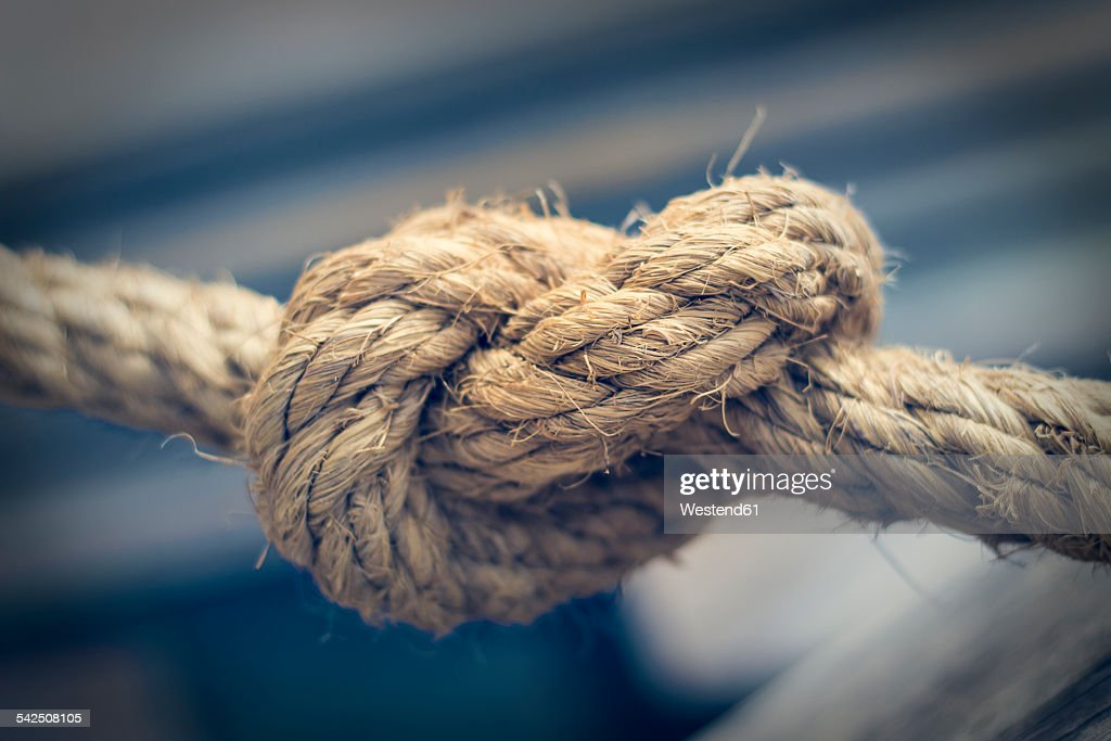 Knotted rope, close-up : Stock Photo