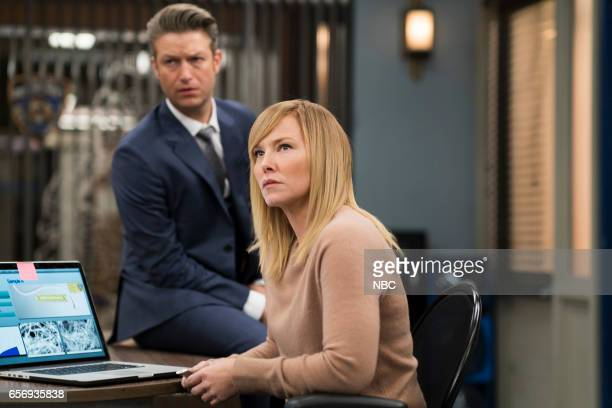 UNIT 'Know It All' Episode 1814 Pictured Peter Scanavino as Dominick 'Sonny' Carisi Kelli Giddish as Detective Amanda Rollins