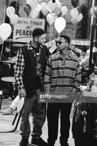 AIR THE I Know Why the Caged Bird Screams Episode 16 Pictured Will Smith as William 'Will' Smith Jeffrey A Townes as Jazz Photo by Paul...