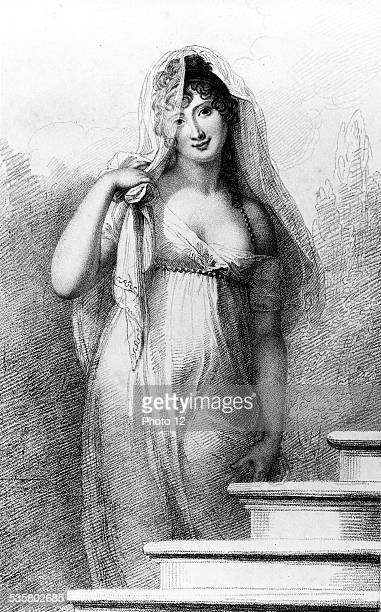 Known as Madame Recamier born 4th December 1777 and died 11th May 1849 She was leader of society Famous woman of spirit of her time