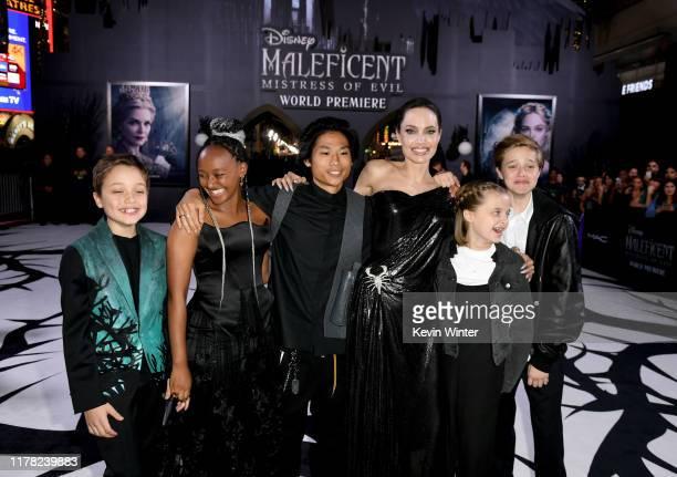 Knox Léon Jolie-Pitt, Zahara Marley Jolie-Pitt, Pax Thien Jolie-Pitt, Angelina Jolie, Vivienne Marcheline Jolie-Pitt, and Shiloh Nouvel Jolie-Pitt...