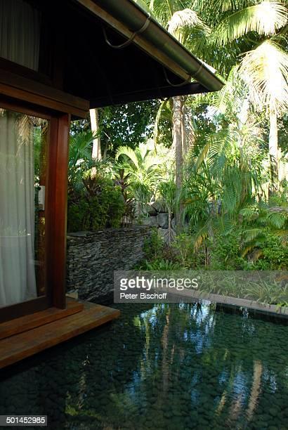 """Künstlich angelegter Wassergraben, Garten Strandvilla 5-Sterne-Luxushotel """"Four Seasons"""", Insel Langkawi, Malaysia, Asien, aussen, Hotel, Reise, NB,..."""