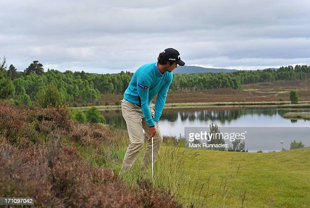 Knut Borsheim of Norway plays a chip shot to the 6th green during the Third Round of the Scottish Hydro Challenge hosted by MacDonald Hotels Resorts...