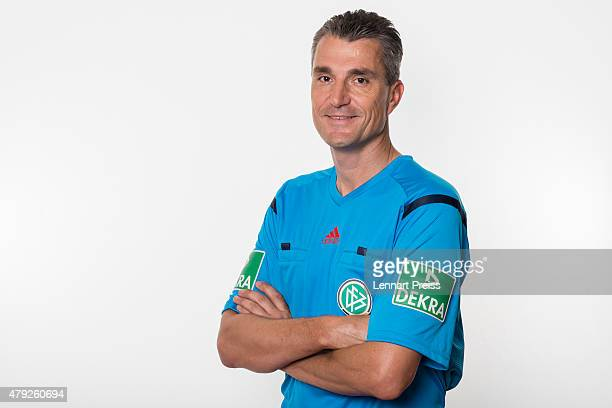 Knut Kircher poses during a photo shoot prior to the annual referee course on July 2 2015 in Grassau Germany