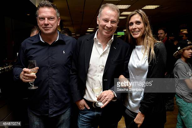 Knut Reinhardt Stefan Reuter and Conny Lehmann attend the 'Club Of Former National Players' meeting prior to the EURO 2016 qualifier match between...