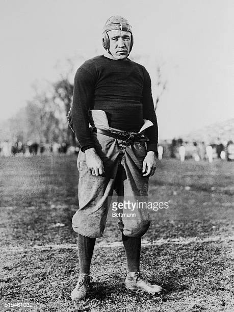 Knute Rockne is pictured here, as he appeared while Captain of the Notre Dame football team.