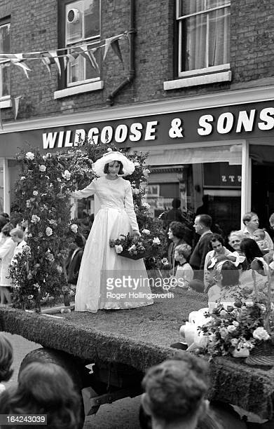 Knutsford Royal May Day 1965. The May queen on a horse drawn float. Knutsford Royal May Day is the highlight of the towns calendar and takes place...