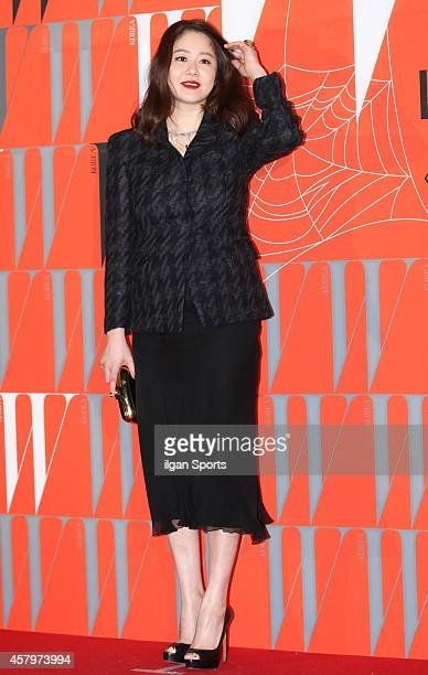 Ko HyungJung poses for photographs during the W Korea campaign Love Your W party at Fradia on October 23 2014 in Seoul South Korea