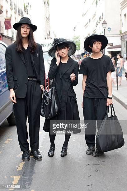 Ko Nakano, Shoko and Naoki at Paris Fashion Week Spring/Summer 2013 menswear shows on June 28, 2012 in Paris, FRANCE.
