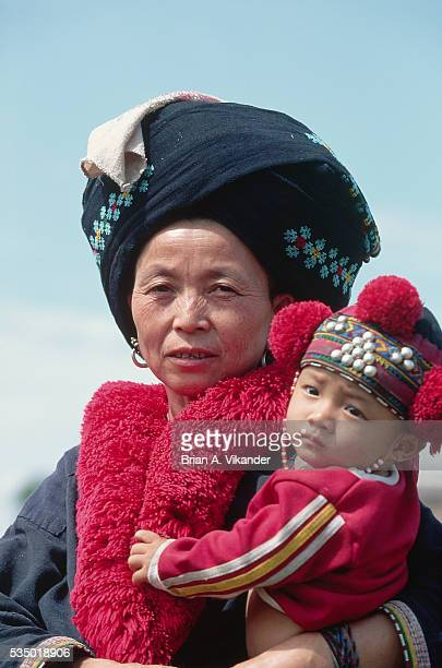 Ko Tribe Woman Holding Child