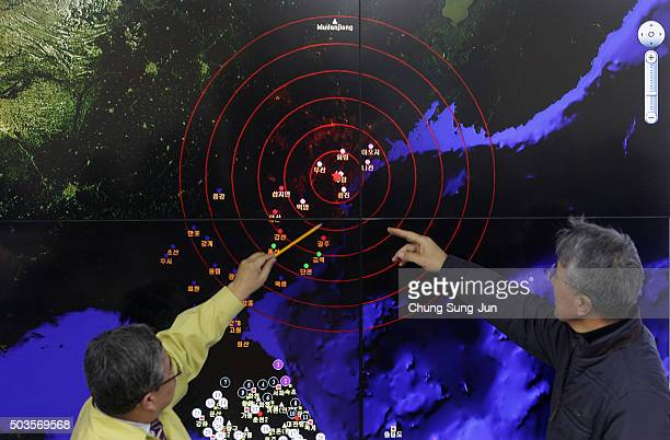 Ko Yunhwa The Korea Meteorological Administration Administrator and Yun WonTae a Earthquake and Volcano of the Korea Meteorological Administration...