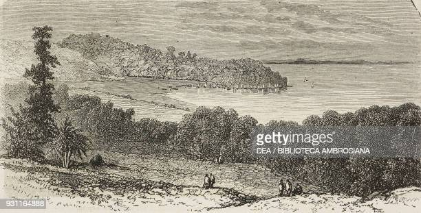 Koarata on Lake Tana Abyssinian from First journeys by David Livingstone drawing by Eugene Ciceri from Il Giro del mondo Journal of geography travel...