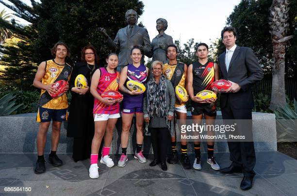 Kobe Brown AFL General Manager Inclusion and Social Policy Tanya Hosch Krstel Petrevski Kirby Bentley Sir Doug NichollsÕ daughter Aunty Pam Pedersen...