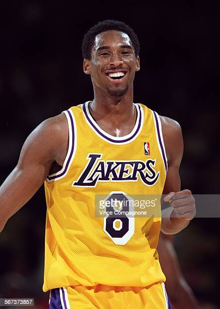 Kobe Bryant 6–foot–7 Laker forward telling announcer Chick Hearn why he decided to let his hair grow So I will look taller The Lakers' Kobe Bryant...