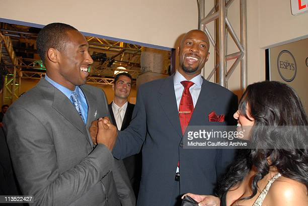 Kobe Bryant and Alonzo Mourning during 2006 ESPY Awards After Party at Kodak Theatre in Hollywood California United States