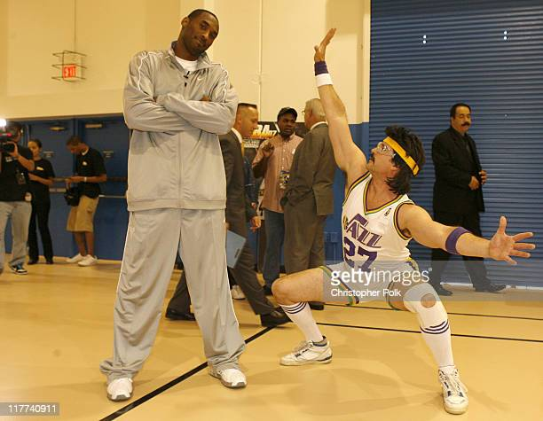 Kobe Bryant and Billy Joe Cuthbert during Kobe Bryant and NBA '07's Eclectic Billy Joe Cuthbert Join Kids From the Lied Memorial Boys and Girls Club...
