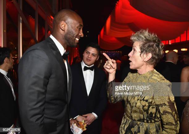 Kobe Bryant and Frances McDormand attend the 2018 Vanity Fair Oscar Party hosted by Radhika Jones at Wallis Annenberg Center for the Performing Arts...