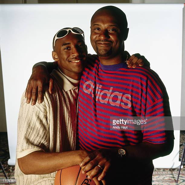 Kobe Bryant and his father pose for a portrait. NOTE TO USER: User expressly acknowledges and agrees that, by downloading and/or using this...