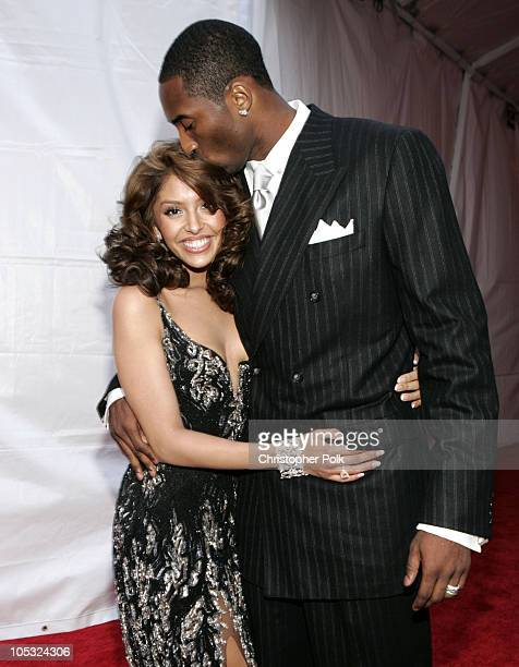 Kobe Bryant and his wife Vanessa Bryant during 2004 MTV Movie Awards - Red Carpet at Sony Pictures Studios in Culver City, California, United States.