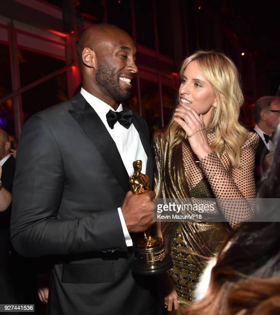 Kobe Bryant and Karolina Kurkova attend the 2018 Vanity Fair Oscar Party hosted by Radhika Jones at Wallis Annenberg Center for the Performing Arts...