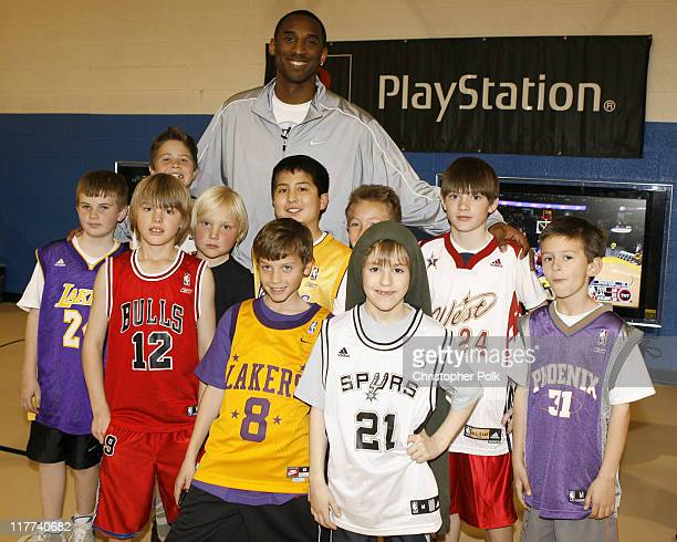 Kobe Bryant and Kids from the Leid Memorial Boys and Girls Club